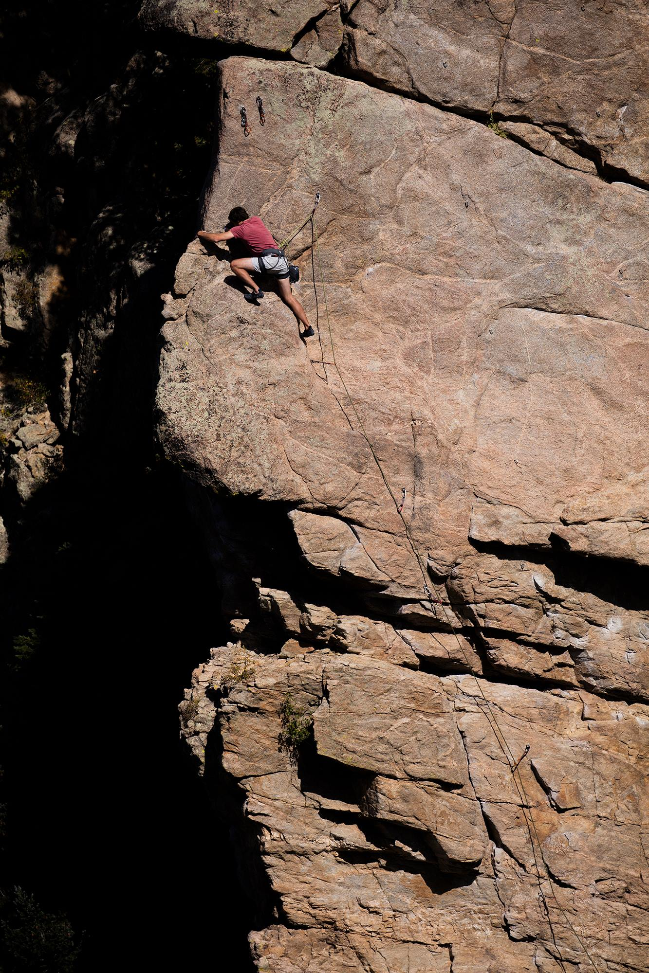 Boulder Colorado Rock Climbing - Charles Kelly