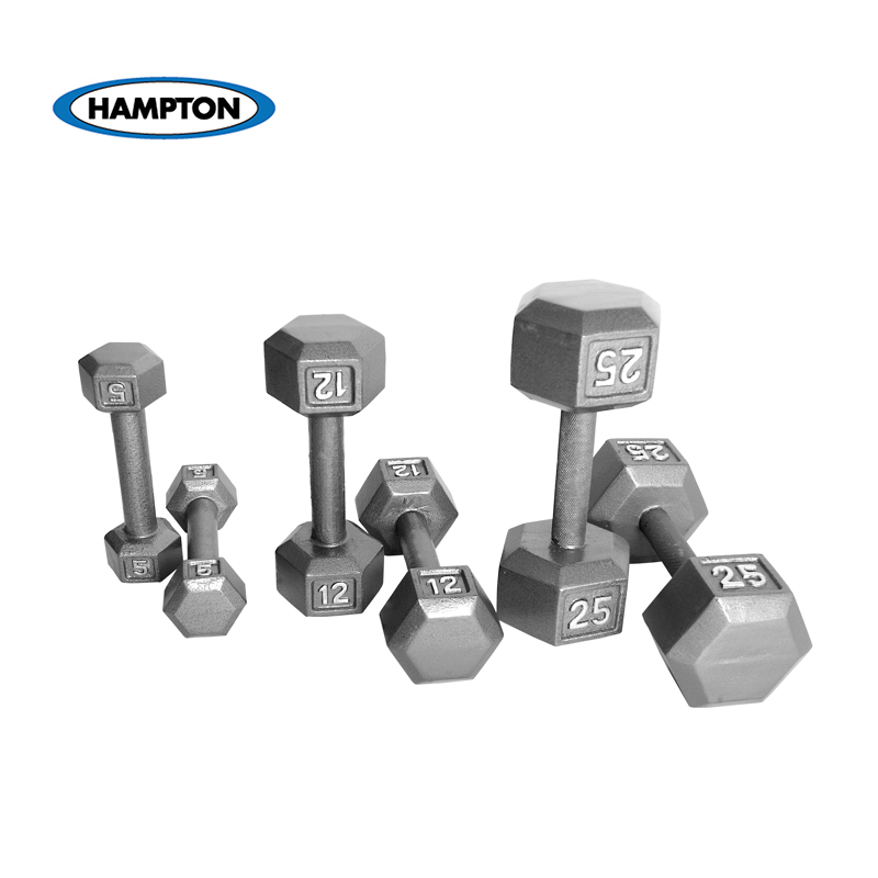 Hampton Fitness Pro Hex Dumbbells at Fitness Gallery