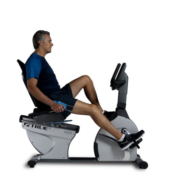 TRUE Fitness ES700 Recumbent Bike available at Fitness Gallery