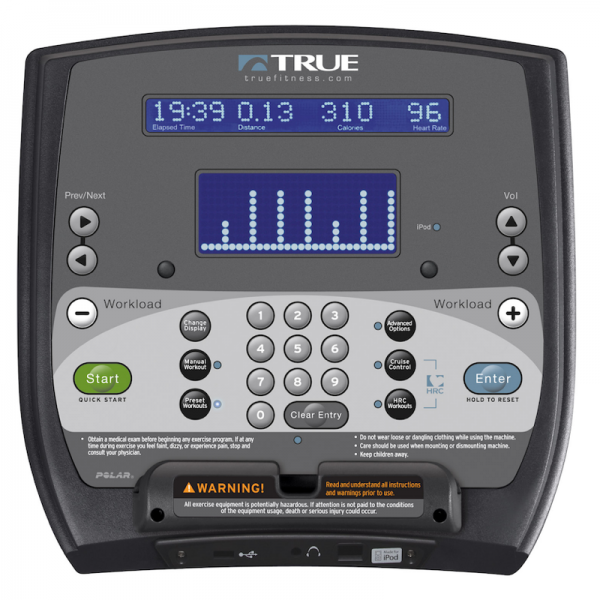 TRUE Fitness LCD Console available at Fitness Gallery