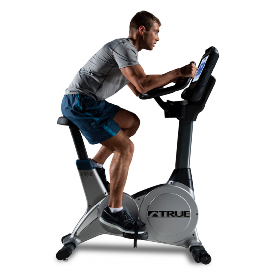 TRUE Fitness C900 Upright Bike available at Fitness Gallery