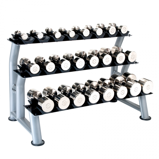 Hampton Fitness 3-Tier Dumbbell Rack at Fitness Gallery