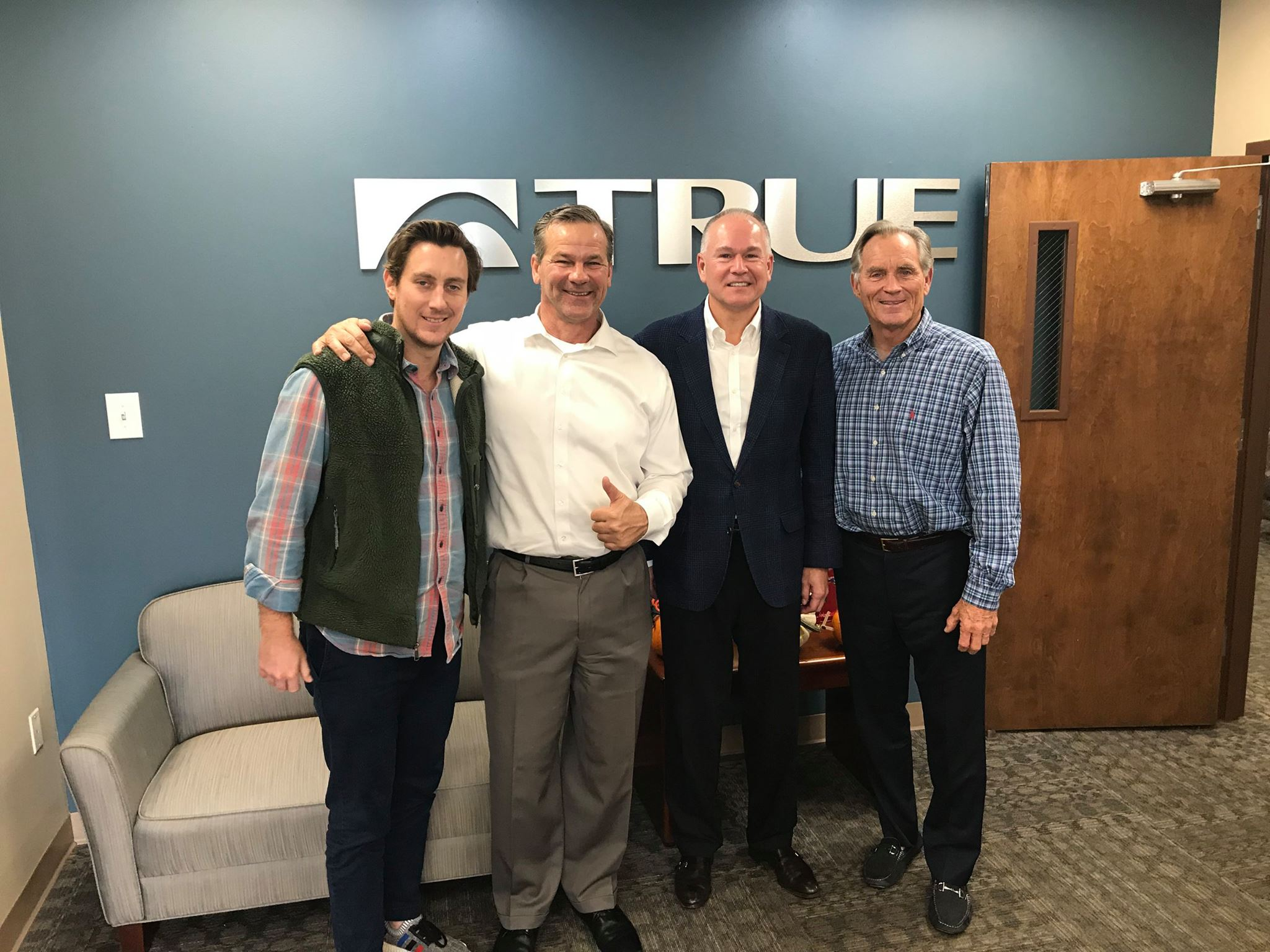 Our founder, Donnie Salum, visited TRUE's facility to get a sneak peak with partner Mark Classen, and TRUE's David and Frank Trulaske.