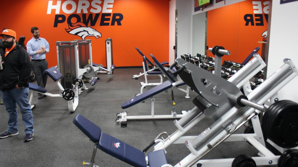 Denver Broncos Stadium Room by Fitness Gallery