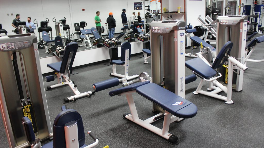 Denver Broncos Stadium Room - Strength Equipment by Fitness Gallery