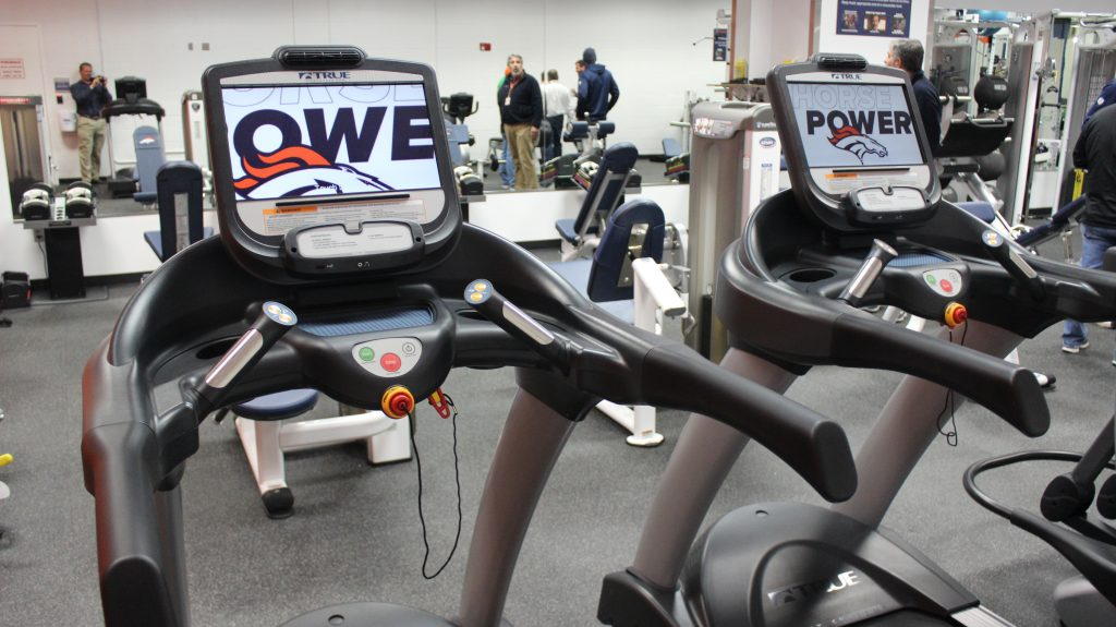 Denver Broncos Treadmills Installed by Fitness Gallery