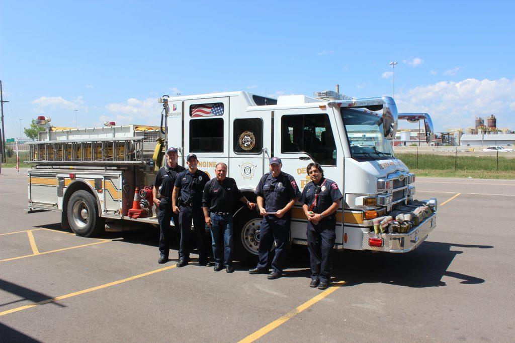 Denver Fire Dept at Fitness Gallery's North Denver Store