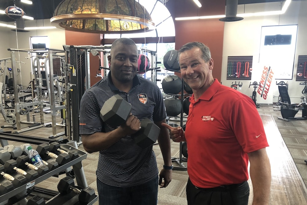 Rod Smith and Donnie Salum at Fitness Gallery