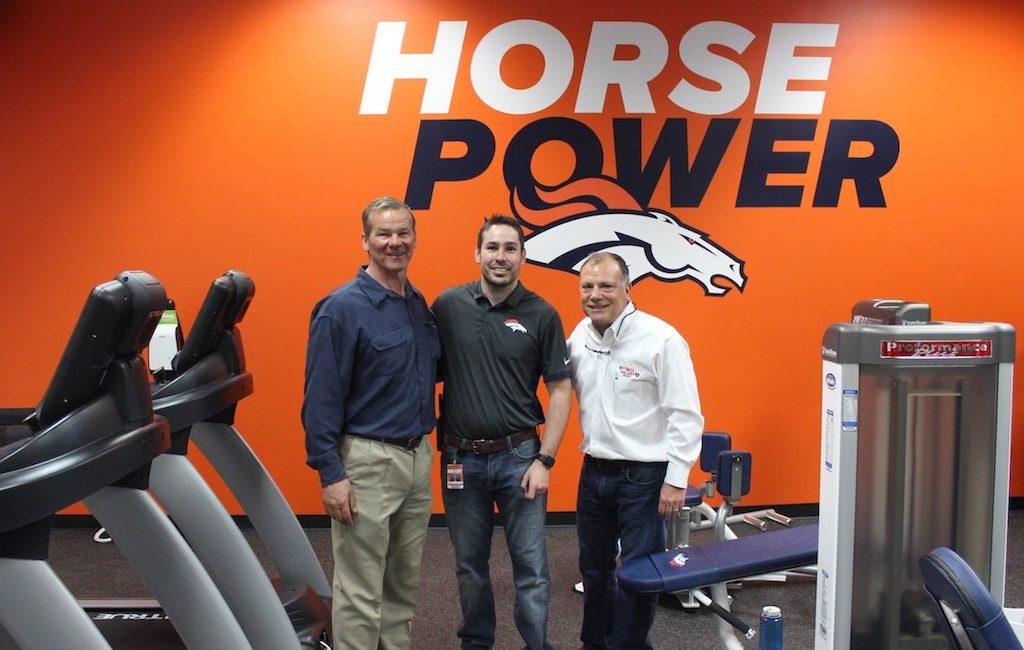 fe04839c3 Denver Broncos Stadium Room Gym by Fitness Gallery