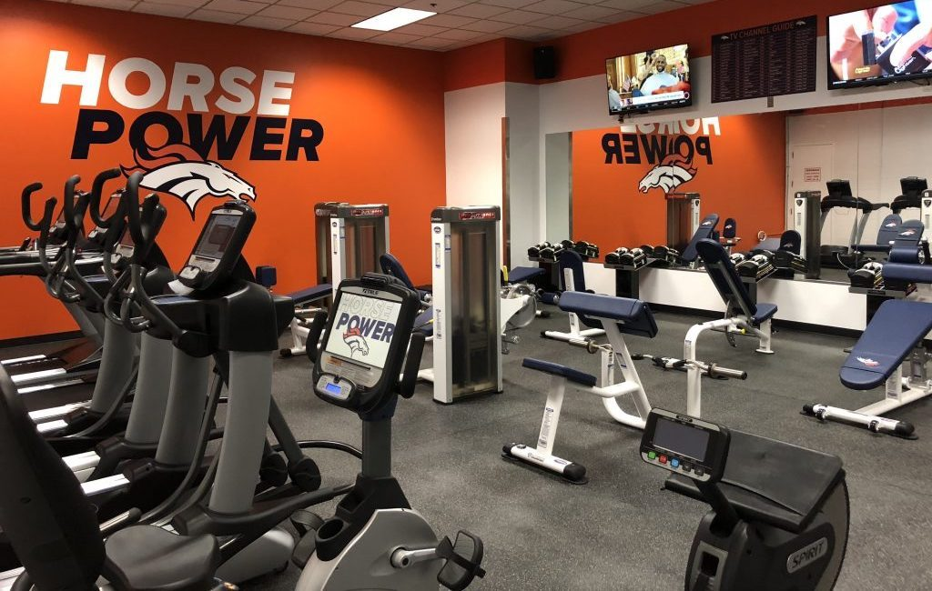 Denver Broncos Stadium Room Gym Install by Fitness Gallery
