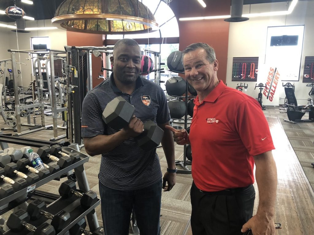 Rod Smith and Donnie Salum at Fitness Gallery in Denver