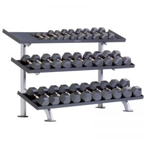 TuffStuff Proformance Plus 3-Tier Tray Dumbbell Rack (PPF-754T)