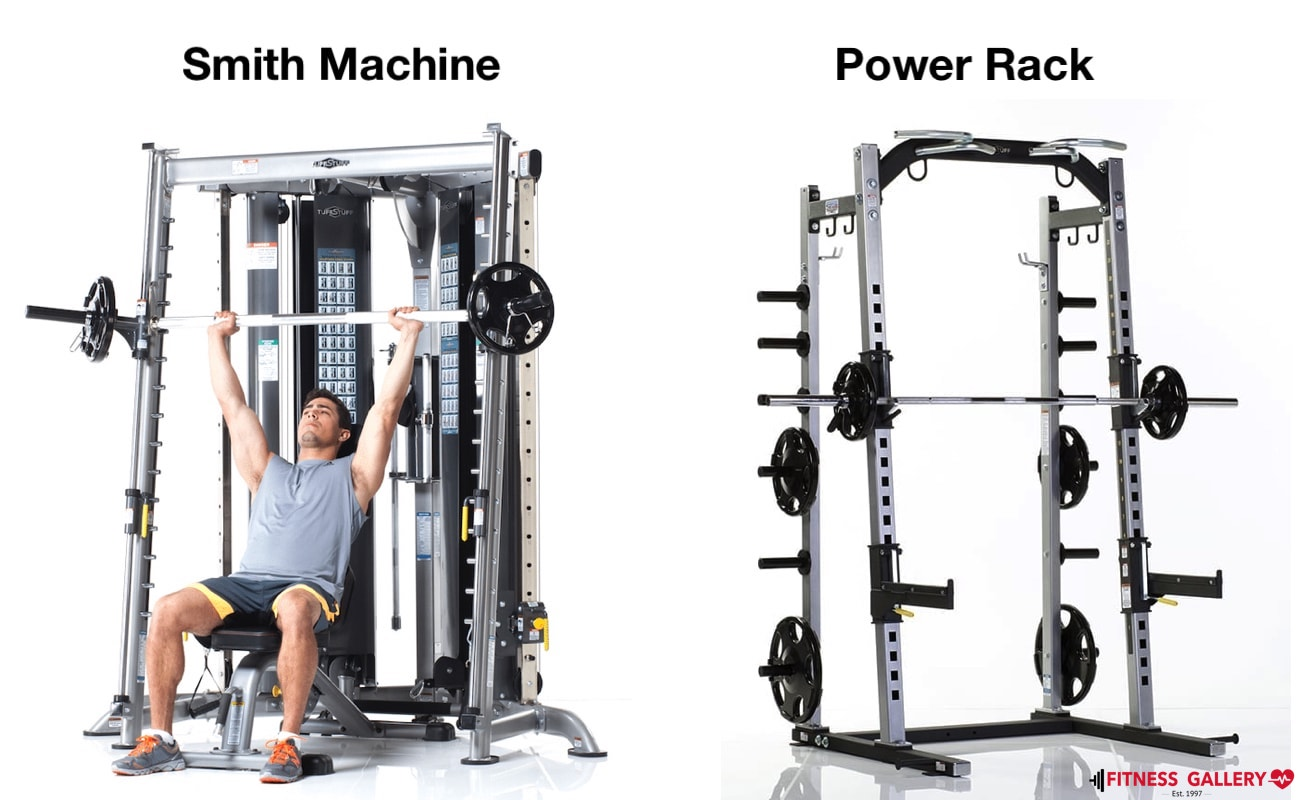 Smith Machine Vs. Power Rack - at Fitness Gallery