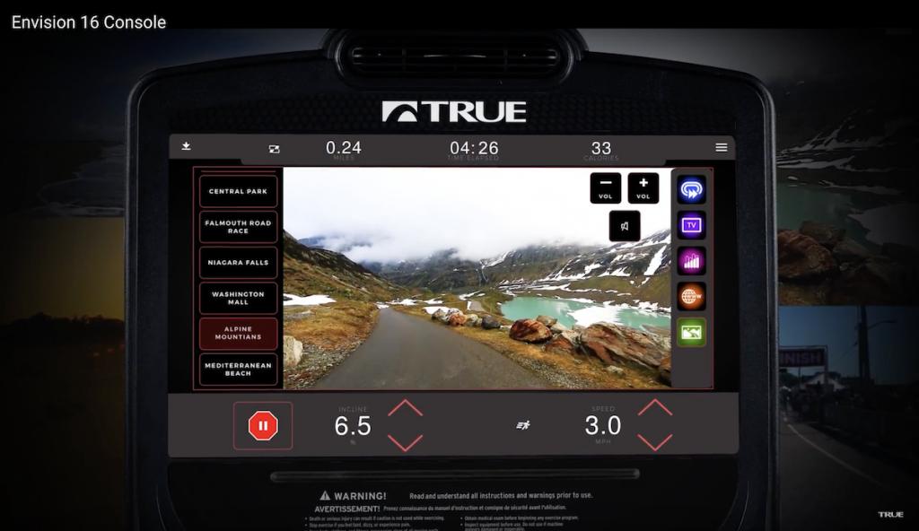 TRUE Treadmill Envision Console
