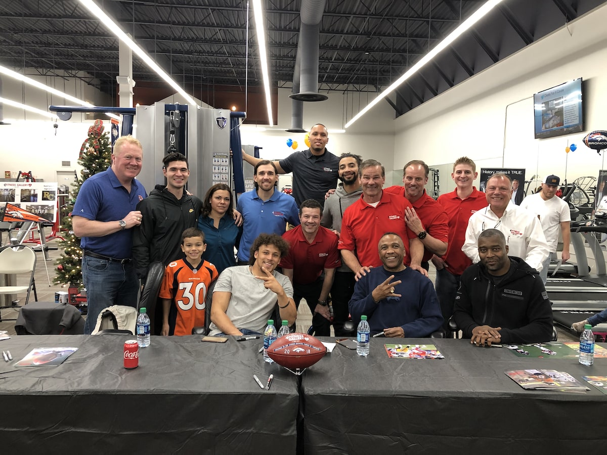 The Fitness Gallery Team with Denver Broncos