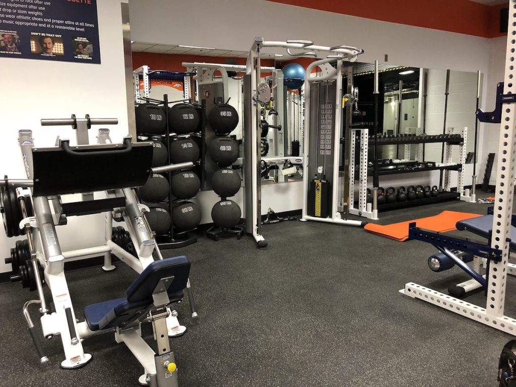 Broncos Stadium Room Gym - TuffStuff Fitness Strength Equipment