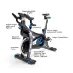 Stages SC3 Indoor Bike Features - at Fitness Gallery