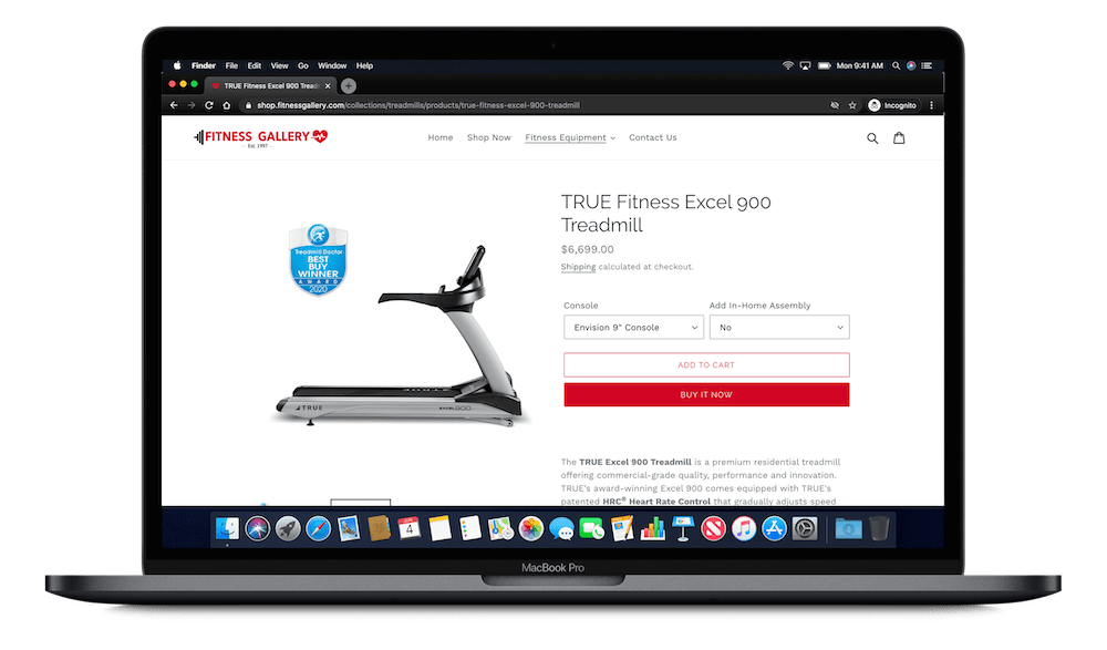 Order online - Fitness Gallery Shop