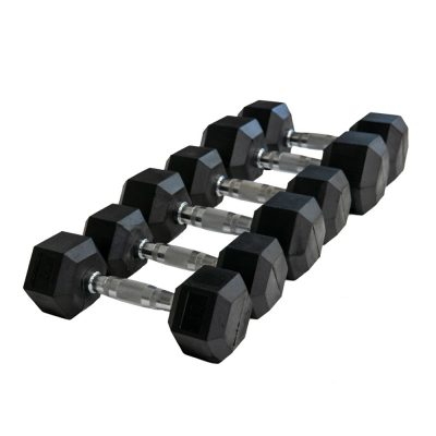 PrimeTime Rubber Hex Dumbbell Set image 2