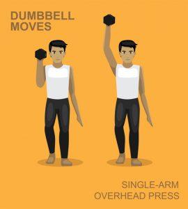 Single arm overhead press